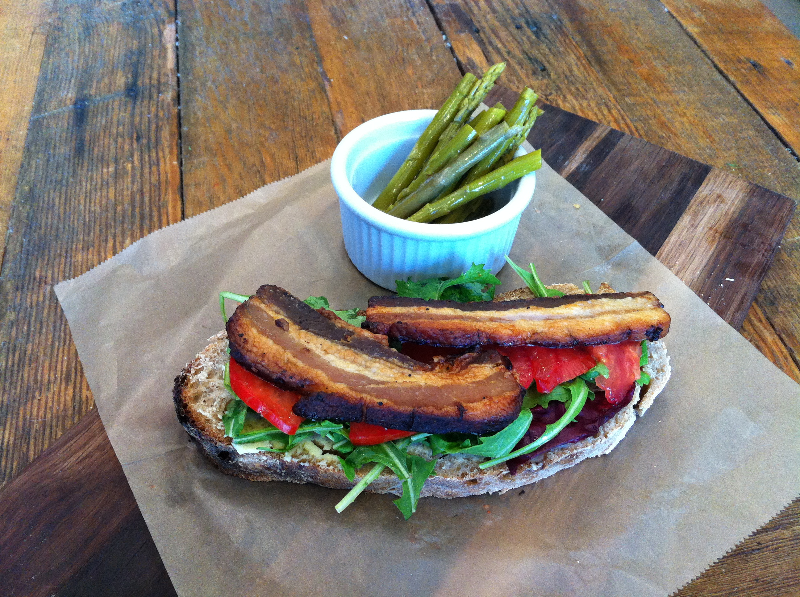 Dose of Vitamin P: Red Bread BLT Tartine